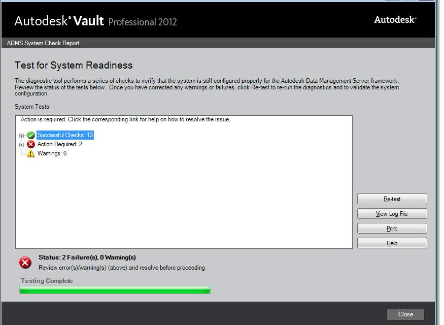 Autodesk Vault | ADMS Server installation tip – Prechecks