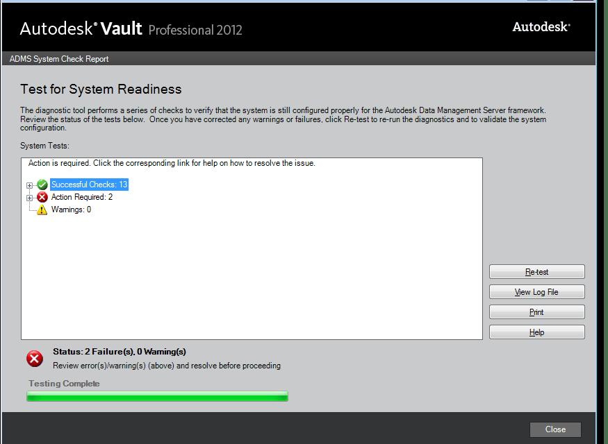 Autodesk Vault   ADMS Server installation tip – Prechecks