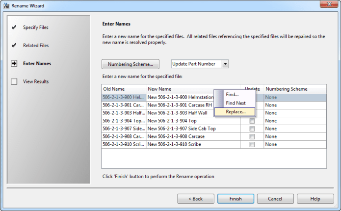 Replace All User Interface Inconsistency with Autodesk Vault
