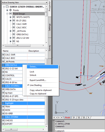 Civil 3D | Multiple Group Deletion Tip