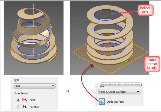 Variable Helix Equation Curves in Inventor