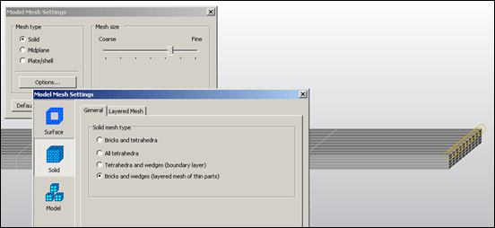 Autodesk Simulation Mechanical Mesh Options