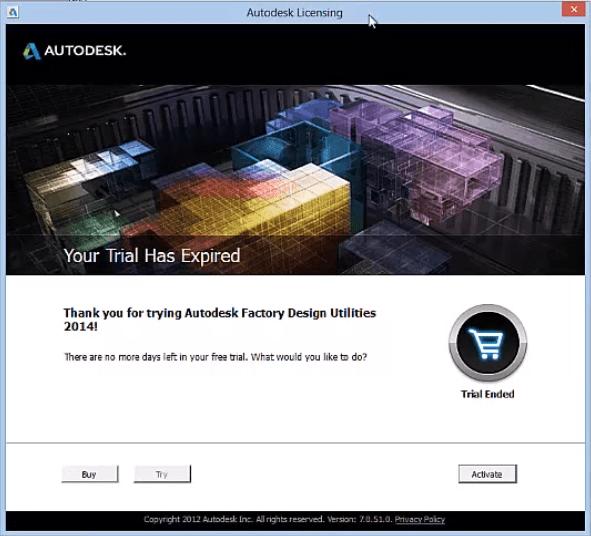 Autodesk Factory Design Suite Utilities Activation Problem