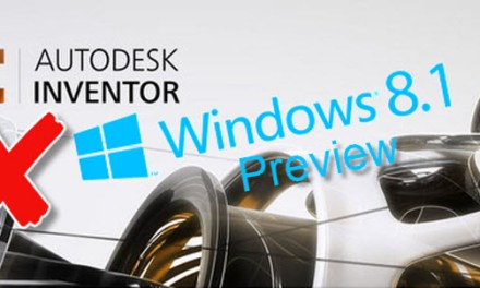 Windows 8.1 Preview and Autodesk Inventor WARNING