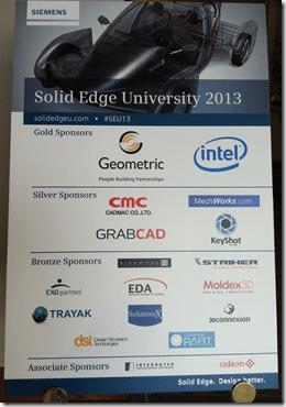 Solid Edge University 2013 Sponsor