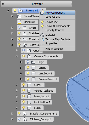 Wrist Phone design using Autodesk Fusion 360 – Part 2