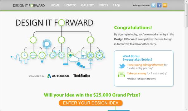 Autodesk Lenovo Design It Forward Contest