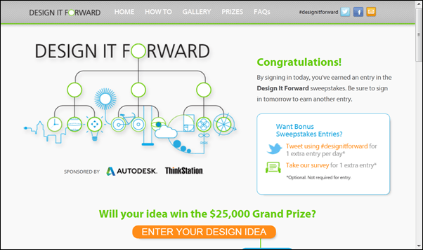 The Design It Forward Contest and Sweepstakes