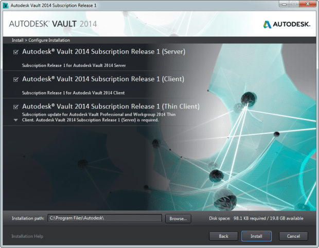 Autodesk Vault 2014 Sub Installer