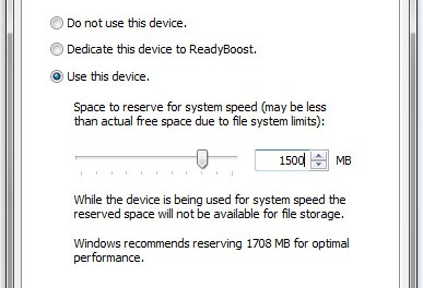 Setting up Windows Readyboost