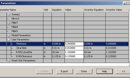 Simulation Mechanical   Adjust Inventor Parameters