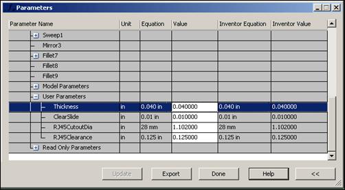 Simulation Mechanical | Adjust Inventor Parameters