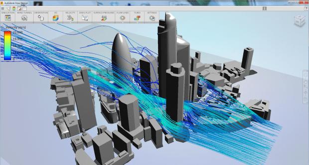 Autodesk Revit Flow Design City high rise simulation