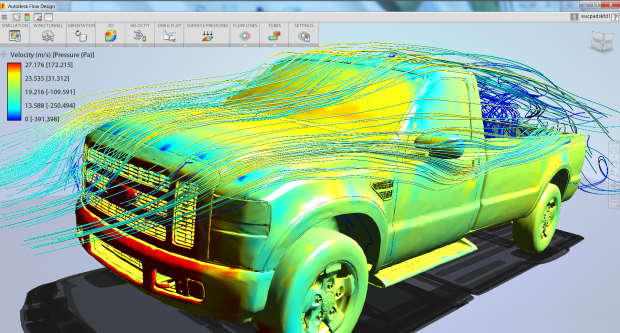 Autodesk Inventor Flow Design FORD Pickup