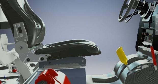 Autodesk Inventor 2015 Freeform T-Spine Seat