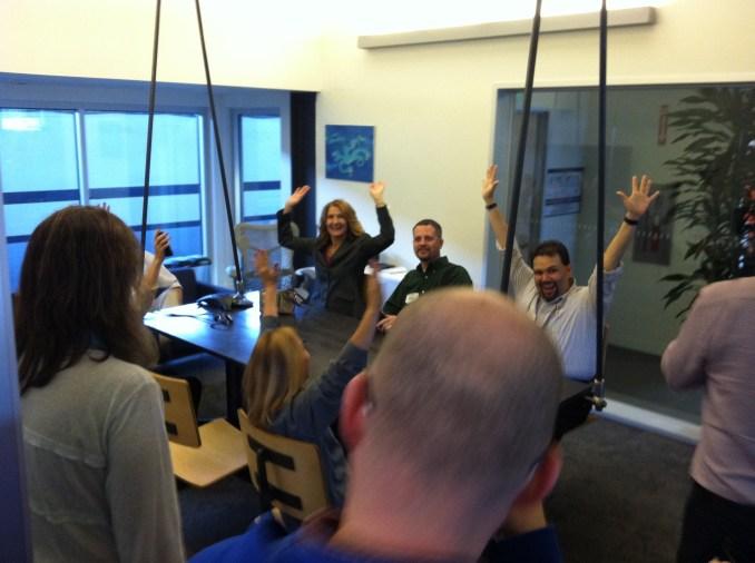 Autodesk Workshop at Pier9 Swinging Meeting Bench