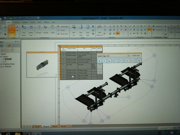 Solid Edge University 2014 Draft Tool-tips in Parts List