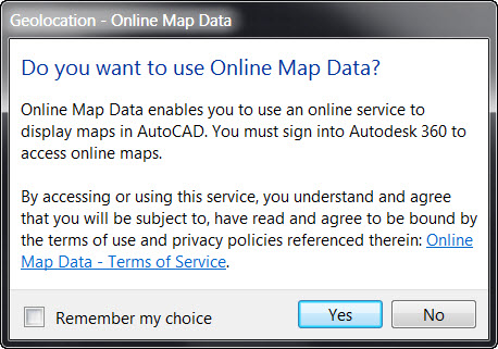 AutoCAD 2015 - Using Online Map Data