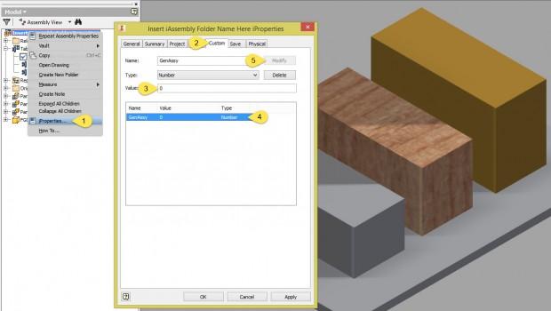 Autodesk Inventor iAssembly Regeneration Custom iProperty