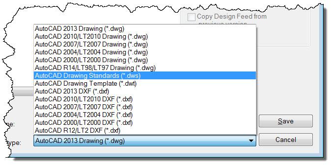 AutoCAD Save As DWS
