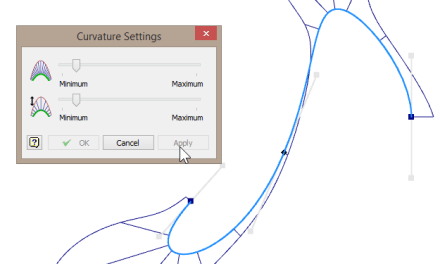 Autodesk Inventor 2014 | Modify curvature display UI bug