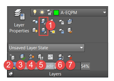 AutoCAD Layer Panel Labeled Part 2