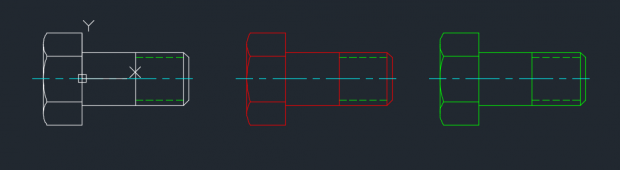 AutoCAD Blocks Three Different Layers