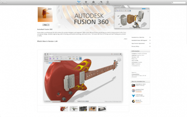 Fusion 360 on the Mac App Store