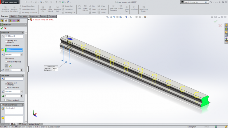 SolidWorks 2015 Pattern to Reference