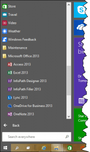 Windows 10 Start Menu All Apps