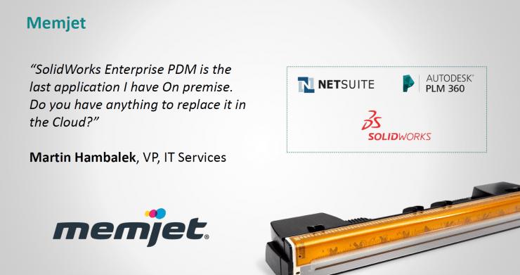 Memjet - PDM - Autodesk PLM 360