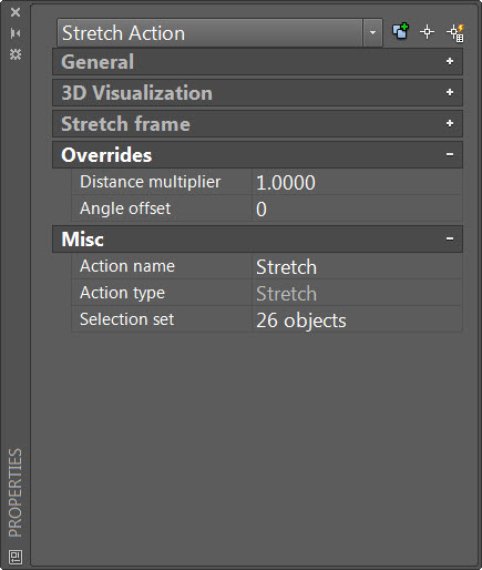 Stretch Action Properties