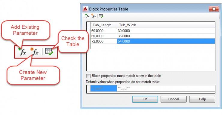 Dynamic Blocks - Block Properties Table