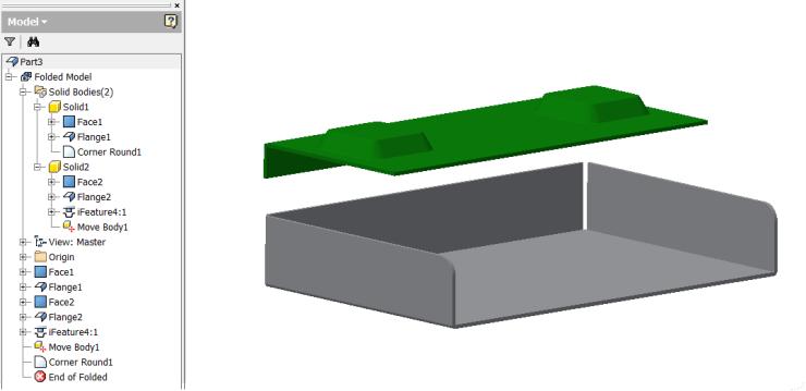 Inventor 2016 - Multibody Sheetmetal