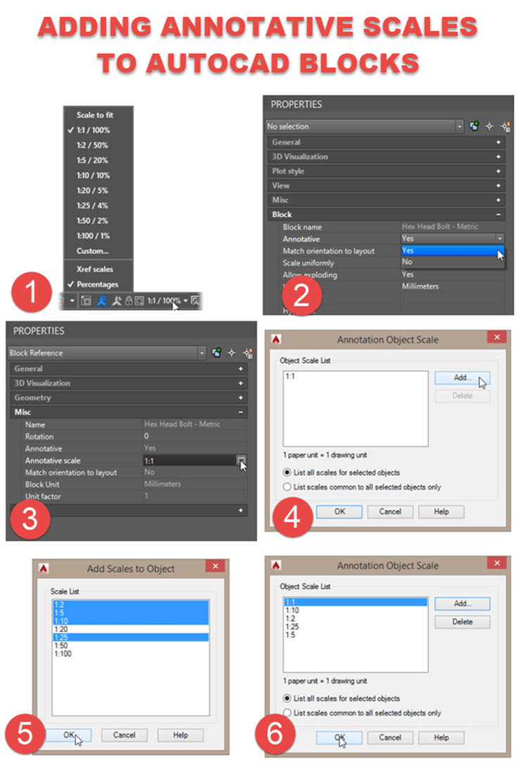 Add annotative scale to AutoCAD Blocks