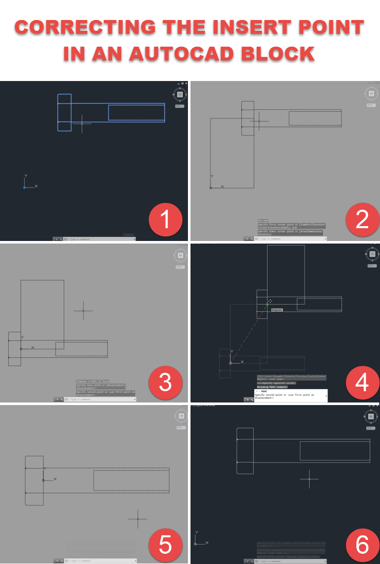 Correcting the Insert point in an AutoCAD block