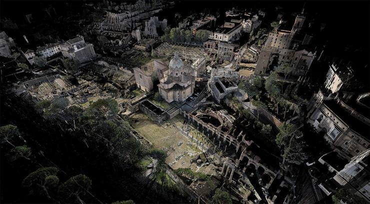 Rome's Forum laser scanned - Scanlab