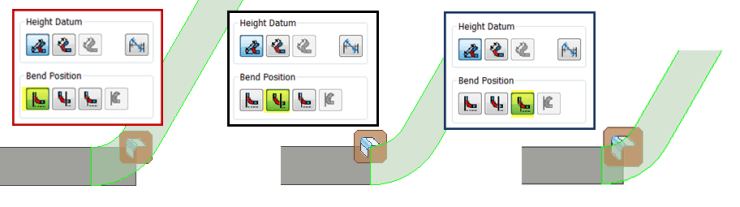 Flange Bend Location Options