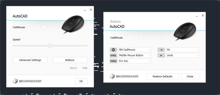 CadMouse - AutoCAD - Configuration