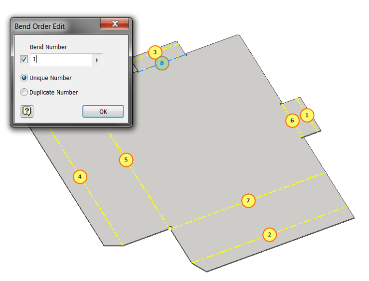 Inventor Sheet Metal - Flat Pattern Bend Order