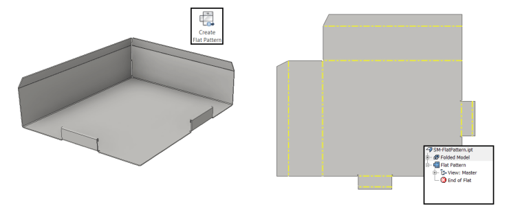 Inventor Sheet Metal - Flat Pattern