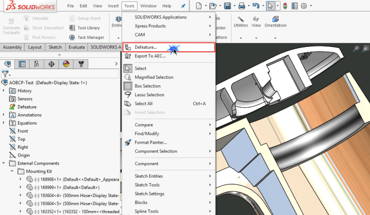 Solidworks 2016 Defeature