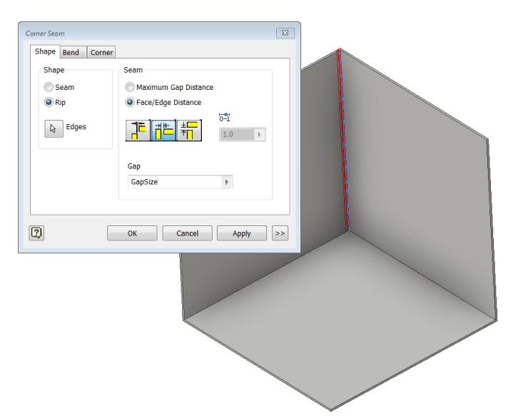 Inventor SM Corner Seem Rip2