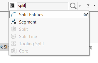 Solidworks Sketch Search Split Entities