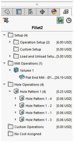 How does SolidWorks Costing know how much my parts cost
