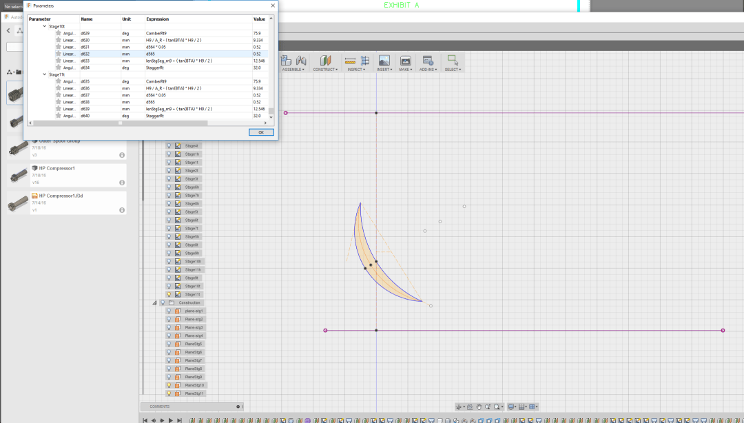 Parameter Organization in Fusion 360