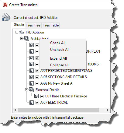 AutoCAD-Create-Transmittal-Right-Click-File Listing
