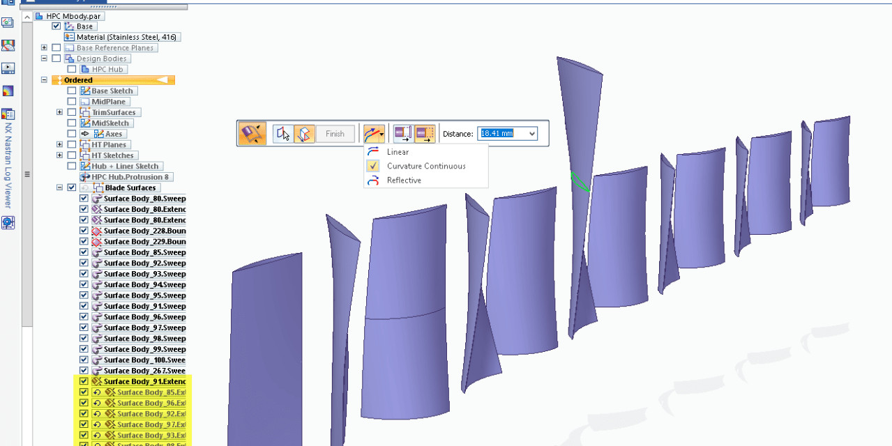 Solid Edge's Extend Surface Tool