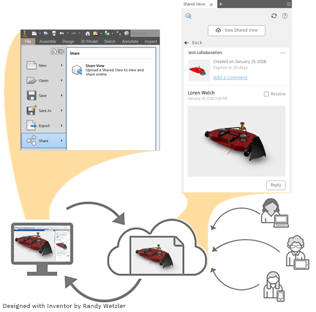 Inventor 2019 Shared Views Overview