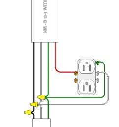 my previous experience with house wiring involved 2 wire plus ground non metallic sheathed nm wire in 12 and 14 gauge this wirning involves 2 conductors  [ 575 x 1430 Pixel ]